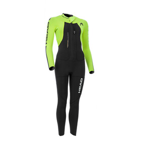 Head Swimrun Rough 4.3.2 Wetsuit Ladies Black/Yellow
